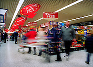 Tesco supermarket, Whitehaven.<br /> <br /> At present 98% of products are thrown away in 6 months, yet much of this waste will remain for many generations to come.<br /> <br /> It takes approximately 400 years for a normal plastic carrier bag to break down in a landfill site.