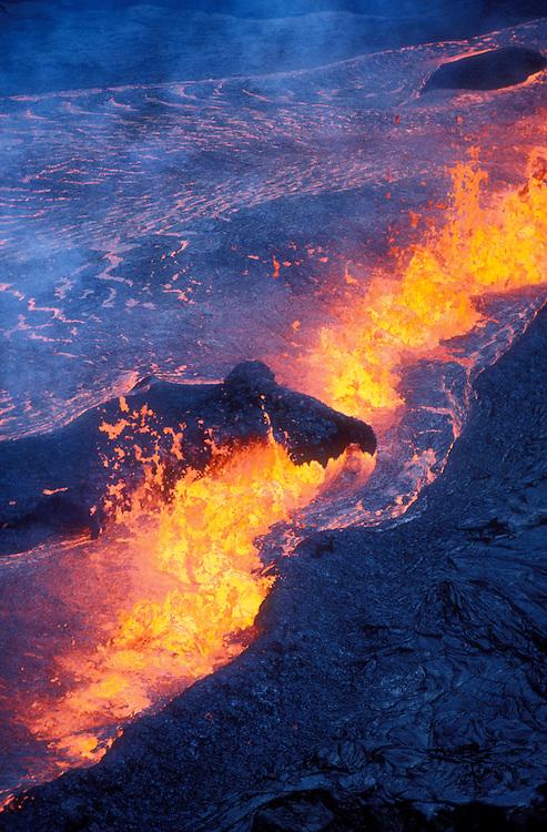 Rift eruption near Pu'u O'o; Hawaii Volcanoes National Park, Island of Hawaii.
