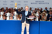 Henley on Thames, England, United Kingdom, 7th July 2019, Henley Royal Regatta, Prize Giving, The Diamond Challenge Sculls, Oliver ZEIDLER,  Germany[© Peter SPURRIER/Intersport Image]<br /> <br /> 17:40:33 1919 - 2019, Royal Henley Peace Regatta Centenary,
