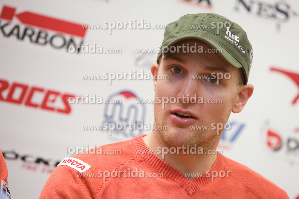 Andrej Sporn at press conference of Slovenian Ski Federation a day after Men's Downhill of the Audi FIS Ski World Cup 2009/10 in Bormio, on December 30, 2009, in SZS, Ljubljana, Slovenia.  (Photo by Vid Ponikvar / Sportida)