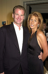 The HON.AURELIA CECIL and her husband MR RUPERT STEPHENSON, at a party in London on 25th September 2000.OHH 11