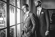 The groom and best man before the ceremony, shot by Puerto Vallarta wedding photographer Michelle Turner.