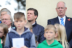 Bristol Rovers Manager Darrell Clarke attends the memorial service - Mandatory byline: Dougie Allward/JMP - 07966 386802 - 11/11/2015 - Memorial Stadium - Bristol, England- Memorial Service