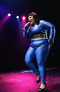 Beth Ditto of The Gossip performs live on stage at The London Astoria on February 24, 2007 in London, England.  (Photo by Simone Joyner)
