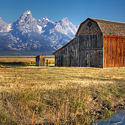 Part of the historic Reed Moulton homestead on Mormon Row, Grand Teton National Park, Wyoming.