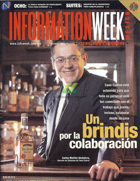 Mexican alcoholic drinks group and fine tequila specialist Casa Cuervo. Carlos Meillon Alcantara, systems director.