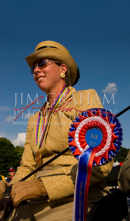 Gold medalist Suzy Stafford at the closing ceremonies at Catton Hall Sunday,  July 17, 2005 (Photograph by Jim Graham)