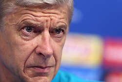15.09.2015, Maksimir, Zagreb, CRO, UEFA CL, Dinamo Zagreb vs FC Arsenal, Gruppe F, Pressekonferenz, im Bild Arsenal coach Arsene Wenger // during a press conference prior to the UEFA Champions League group F, 1st Leg match between between Dinamo Zagreb vs FC Arsenal at the Maksimir in Zagreb, Croatia on 2015/09/15. EXPA Pictures © 2015, PhotoCredit: EXPA/ Pixsell/ Goran Stanzl<br /> <br /> *****ATTENTION - for AUT, SLO, SUI, SWE, ITA, FRA only*****