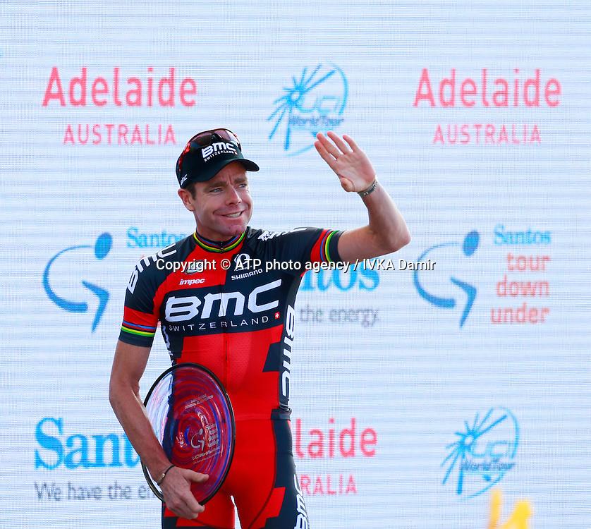 2015 Santos Tour Down Under. Adelaide. Australia.Sunday 25.1.2015.  Stage 6. Adelaide Street Circuit.90km<br /> #1 Cadel EVANS (AUS) BMC Racing Team is third Overtall.<br /> &copy; ATP / Damir IVKA<br />  - Tour Down Under Australia 2015, Cycling, road race, Radrennen, Australien -  Radsport - Rad Rennen -<br /> - fee liable image: copyright &copy; ATP - IVKA Damir