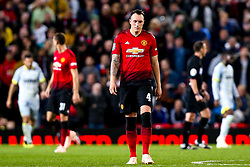 Phil Jones of Manchester United cuts a dejected figure - Mandatory by-line: Robbie Stephenson/JMP - 25/09/2018 - FOOTBALL - Old Trafford - Manchester, England - Manchester United v Derby County - Carabao Cup