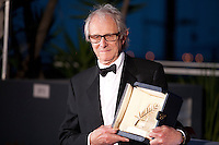 Director Ken Loach winner of the Palme D'or  for I, Daniel Blake at the Palm D'Or Winners photocall at the 69th Cannes Film Festival Sunday 22nd May 2016, Cannes, France. Photography: Doreen Kennedy