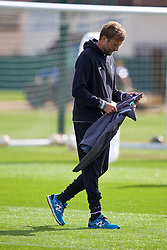 LIVERPOOL, ENGLAND - Wednesday, April 13, 2016: Liverpool's manager Jürgen Klopp during a training session at Melwood Training Ground ahead of the UEFA Europa League Quarter-Final 2nd Leg match against Borussia Dortmund. (Pic by David Rawcliffe/Propaganda)