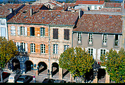 France, Languedoc and Roussillon. Revel.  View of town from belfry