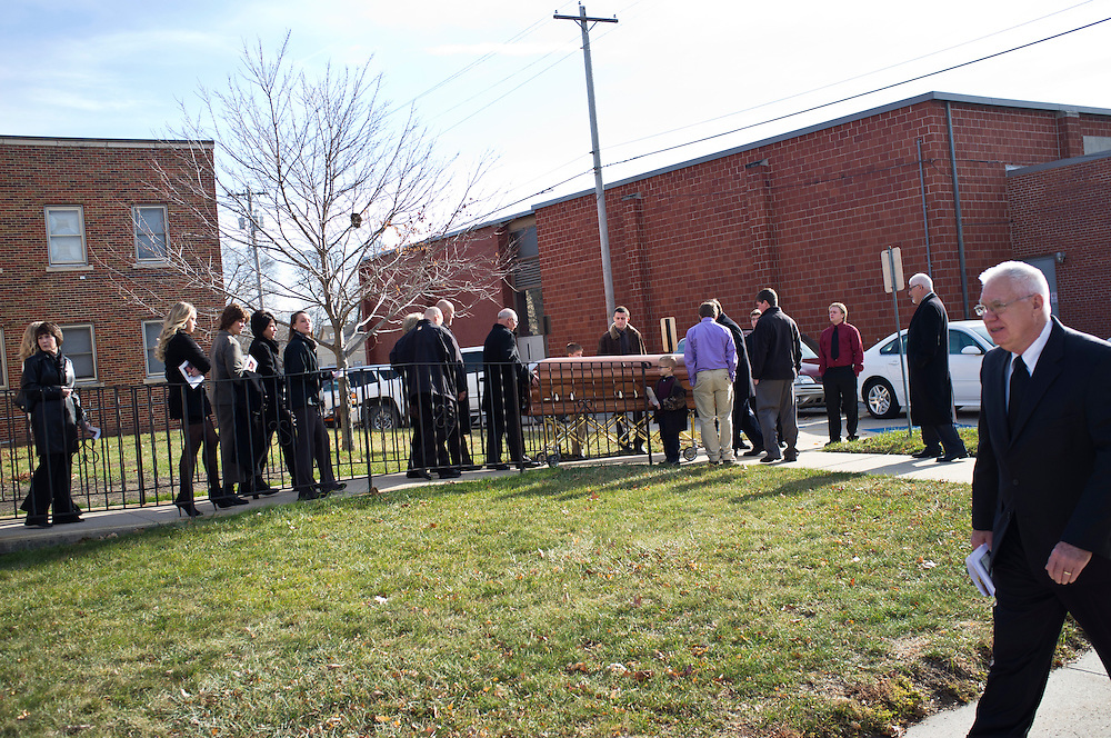 A funeral on Wednesday, November 30, 2011 in Webster City, IA.