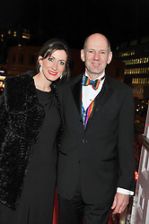 F1 designer ADRIAN NEWEY and his wife AMANDA at the Cord Club's 'Wings For Life' Ball held at One Marylebone, London on 28th February 2013.