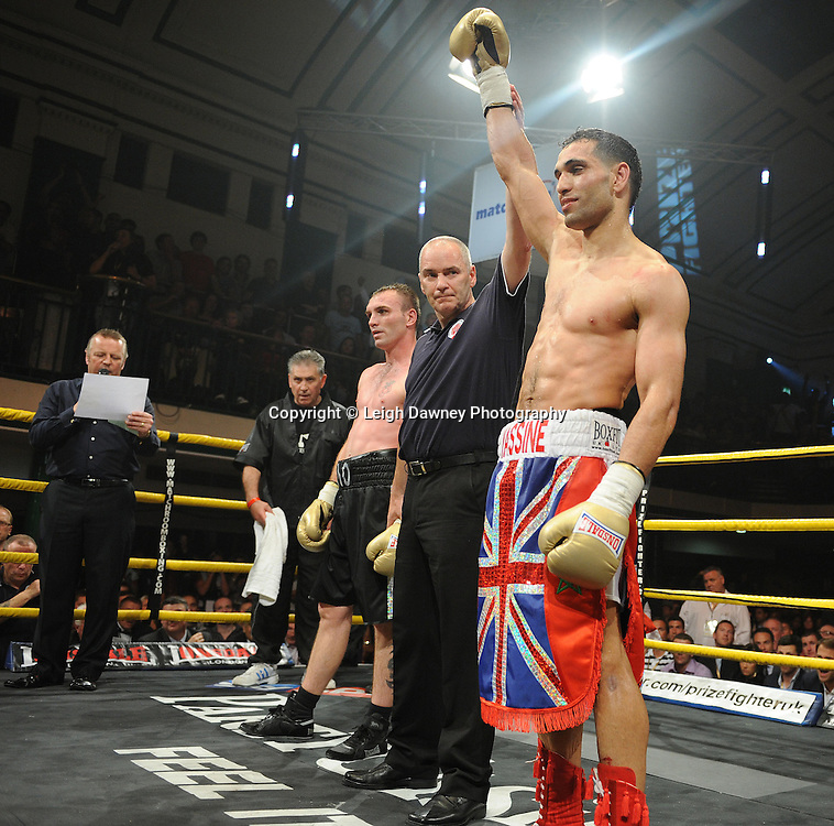 Yassine El Maachi defeats Colin Lynes in the semi final at Prizefighter Welterweights II,York Hall, Bethnal Green ,London. 07.06.11. Matchroom Sport/Prizefighter.Photo credit: Leigh Dawney 2011