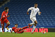 Ruben Loftus-Cheek (Chelsea), England U21 rides a tackle during the UEFA European Championship Under 21 2017 Qualifier match between England and Switzerland at the American Express Community Stadium, Brighton and Hove, England on 16 November 2015. Photo by Phil Duncan.