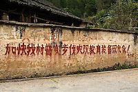 Many villages in China's countryside still have propaganda messages displayed prominently.