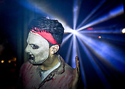 An actor invites haunted house goers to The Empty Grave in Laguna Hills Mall on Friday night. <br /> ///ADDITIONAL INFORMATION: OC.hauntedhouse &ndash; 10/25/14 &ndash; NICK AGRO, ORANGE COUNTY REGISTER<br /> The Empty Grave haunted house in Laguna Hills