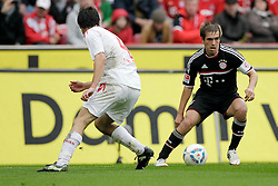 05.05.2012, Rhein Energie Stadion, Koeln, GER, 1. FC Koeln vs FC Bayern Muenchen, 34. Spieltag, im Bild Philipp LAHM (FC Bayern Muenchen - 21) - Christian EICHNER (1.FC Koeln #4) // during the German Bundesliga Match, 34th Round between 1. FC Cologne and Bayern Munich at the Rhein Energie Stadium, Cologne, Germany on 2012/05/05. EXPA Pictures © 2012, PhotoCredit: EXPA/ Eibner/ Gerry Schmit..***** ATTENTION - OUT OF GER *****