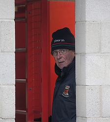 Paddy McNicholas on turnstile duty at the Mayo v Dublin Allianz league match at McHale Park.<br /> Pic Conor McKeown