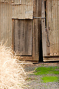 shed with locked door