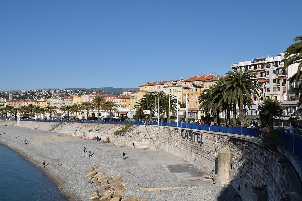 C`style beach at Nice, France