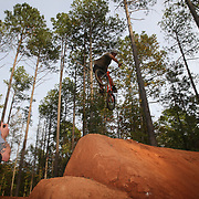Dirt jumpers compete in the 4th annual Bumby's Fun Farm Dirt Jam at Bumby's Fun Farm on Saturday, October 21, 2017 in Fountain Inn, South Carolina. (Alex Menendez)<br /> <br /> <br /> Please credit on Instagram as @FotoAlexM<br /> Twitter as @InstinctFilms