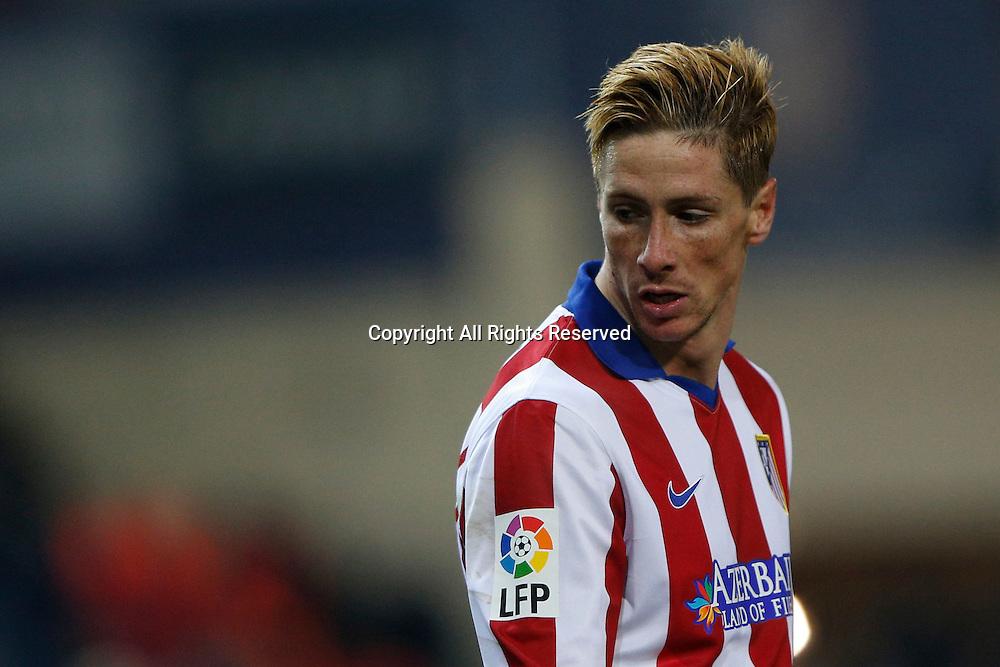 07.01.2015. Madrid, Spain. Copa del Rey Cup football. Atletico Madrid versus real madrid.  19 Fernando Torres Forward of Atletico de Madrid .