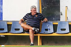 Hull City manager Steve Bruce checks his phone before kick off - Mandatory by-line: Matt McNulty/JMP - 19/07/2016 - FOOTBALL - One Call Stadium - Mansfield, England - Mansfield Town v Hull City - Pre-season friendly