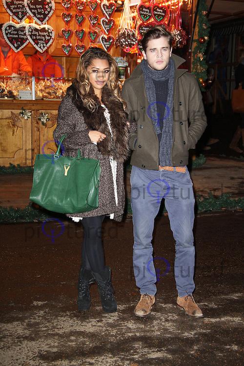 LONDON - NOVEMBER 22: Vanessa White attended the opening night of 'Hyde Park Winter Wonderland' in Hyde Park, London, UK. November 22, 2012. (Photo by Richard Goldschmidt)