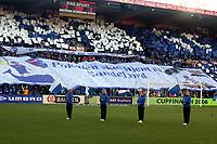 Fotball , 12. november 2006 , Cupfinalen NM-finale Fredrikstad - Sandefjord 3-0,  <br /> <br /> illustrasjon , Blåhvalene , banner , publikum , fan , fans , supporter , supportere , tribune