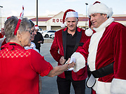 Preparations before Happy Santa delivery of toys and gifts to residents and employees of Padua Community Services in Belle Chasse, Louisiana on December 4, 2017; Louisiana Restaurant Association
