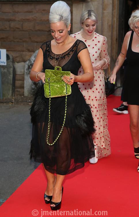 Lily Allen red carpet arrival