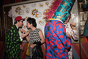 PHILIP COLBERT; MILA ASKAROVA; GIANNI GIRAFFE; GARRET MOORE, , Gazelli host The Colbert Art Party last night at  LouLou's, The Bauer in Venice, Venice Biennale, Venice. 7 May 2015