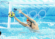 Australian goal keeper James Stanton in action against Montenegro, Australia v Montenegro..Yingdong Natatorium of National Olympic Sports Center 18-8-08   ..Photo: Grant Treeby/WSP