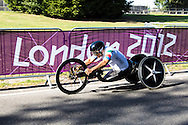 Former IndyCar champion Alex Zanardi on his way to winning a gold medal at Brands Hatch. Paralympics 2012.