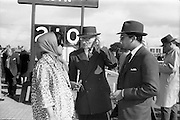 24/09/1963<br /> 09/24/1963<br /> 24 September 1963<br /> Goffs September Bloodstock Sales at the RDS, Dublin. Pictured at the sales were (l-r): Her Highness Maharani of Baroda, whose bay filly, Lot 226 sold for 13,000 guineas; Mr J. Mallick and His Highness the Prince of Baroda.