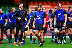 George North and Nicky Smith takes part in the training session - Photo mandatory by-line: Ryan Hiscott/JMP - 29/10/2018 - RUGBY - Principality Stadium - Cardiff, Wales - Autumn Series - Wales Rugby Open Training Session