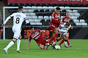 Marcus Tavernier (7) of Middlesbrough battles for possession during the EFL Sky Bet Championship match between Swansea City and Middlesbrough at the Liberty Stadium, Swansea, Wales on 14 December 2019.