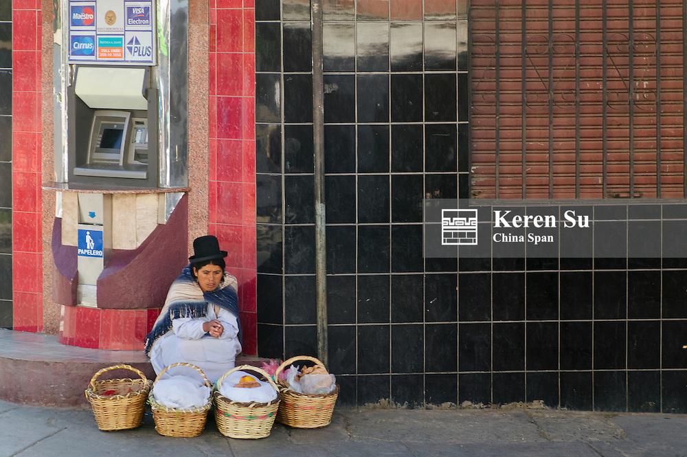 Vendor on the street, La Paz, Bolivia