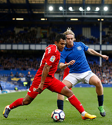 Walter Montoya of Sevilla and Tom Davies of Everton - Mandatory by-line: Matt McNulty/JMP - 06/08/2017 - FOOTBALL - Goodison Park - Liverpool, England - Everton v Sevilla - Pre-season friendly