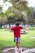 Boy playing in the park