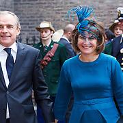 NLD/Den Haag/20130917 -  Prinsjesdag 2013, Minister Lilianne Ploumen van Buitenlandse Handel en Ontwikkelingssamenwerking met haar partner …..