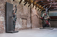 "Venezia - Punta della Dogana . La mostra di Damien Hirst: ""Tresaures from the Wreck of Unbelievable. The warrior and the bear and"