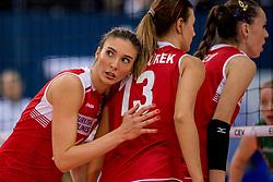01-10-2017 AZE: CEV European Volleyball Azerbeidzjan - Turkije, Baku<br /> Turkije pakt de bronze medaille door het thuisland met 3-1 te verslaan / Naz Aydemir Akyol #11 of Turkey
