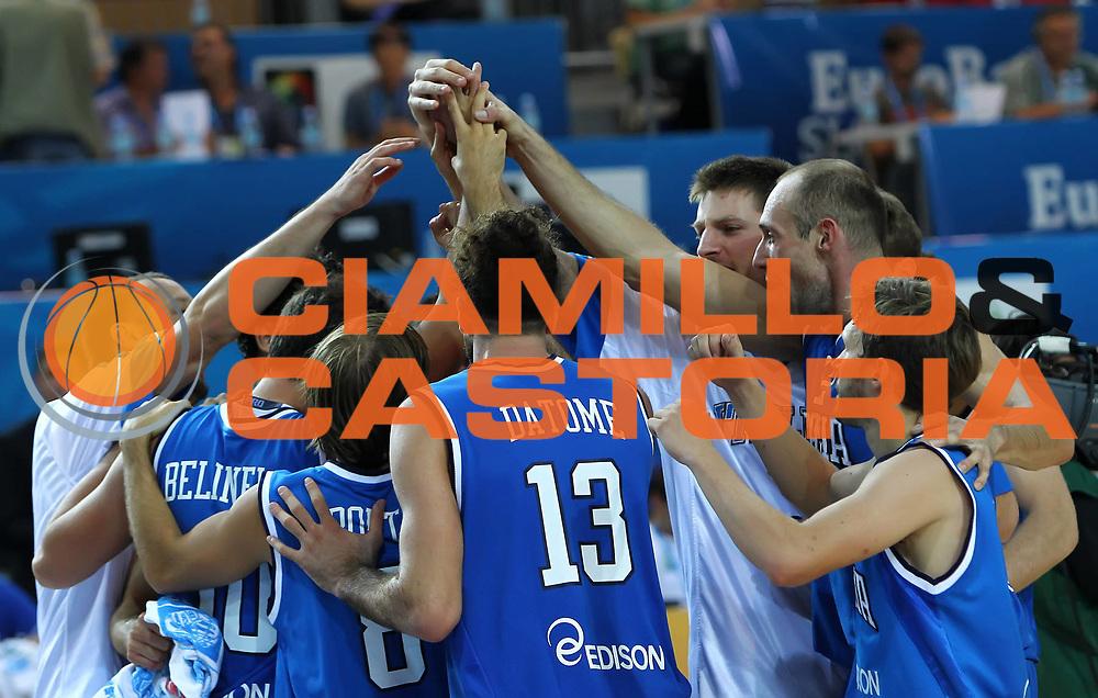 DESCRIZIONE : Koper Slovenia<br /> Eurobasket Men 2013 Preliminary Round Russia Italia Russia Italy<br /> GIOCATORE : Team Italia Team Italy<br /> CATEGORIA : ritratto portrait esultanza jubilation<br /> SQUADRA : Italia Italy<br /> EVENTO : Eurobasket Men 2013<br /> GARA : Russia Italia Russia Italy<br /> DATA : 04/09/2013 <br /> SPORT : Pallacanestro <br /> AUTORE : Agenzia Ciamillo-Castoria/ElioCastoria<br /> Galleria : Eurobasket Men 2013<br /> Fotonotizia : Koper Slovenia<br /> Eurobasket Men 2013 Preliminary Round Russia Italia Russia Italy<br /> Predefinita :