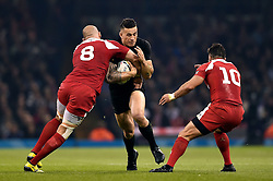 Sonny Bill Williams of New Zealand takes on the Georgia defence - Mandatory byline: Patrick Khachfe/JMP - 07966 386802 - 02/10/2015 - RUGBY UNION - Millennium Stadium - Cardiff, Wales - New Zealand v Georgia - Rugby World Cup 2015 Pool C.