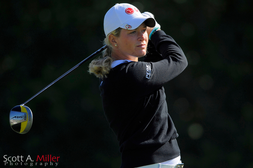Suzann Pettersen in action during the first round of the Ginn Open at Reunion Resort on April 17, 2008 in Reunion, Florida...©2008 Scott A. Miller