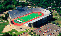 Aerial photograph of the David Booth Memorial Stadium University of Kansas , Jayhawks stadium